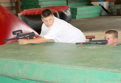 Several children enjoyed new events at the fair this year including laser tag, which was held in the barn for three nights.
