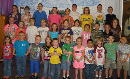 Math Awards. Students receiving math awards were: top row, from left, Bella Sturgill, Lauren Crow-Duggins, Miracle Switzer, Abbi Maryea, Austin Pack, Jason Gant, Brooklyn Fryman, Dustin Thompson, Christopher Griffith; middle row, Bailey Holbert, Haleigh Sharp, Joshua Myers, Cindy Barker, Jae Kathryn Grose, Christopher Stump, Laci Davis, Ashlynn McNees, Daniel McNees, David Neace, Kenley Tumey; bottom row, Alyssa Tucker, Wyatt Gaunce, Dallas Hannah, Katherine Perkins, Samuel Mullen, Tyler Barnett, Brooklynn McElfresh, Steven Gomez, Josh Laney, David Bailey, Iziah Cole.