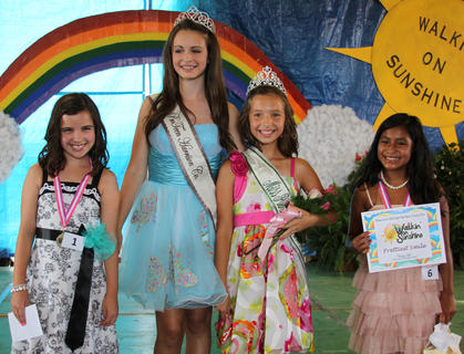 The 2013 Miss Pre-Teen winners were: from left, first runner-up Lily Cook, 2012 Miss Pre-Teen Noel Howard, 2013 Miss Pre-Teen Victoria Gasser, and second runner-up Sarah Allison.