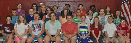 STLP Award: first row, from left, Savanna Austin, Katie Bowling, Kelsey Brinker, Zaryn Couch, Will Darnell, Madelyn Denniston, Savannah Jewell, Colton Kendall, Vance Kendall; second row, Cameron Kinsey, Will Lucky, Emma McGee, Anna Midden, Devon Mitchell, Addison Moore, Morgan Nickerson, Mary Hollis Partin; third row, Gracie Perraut, Marleigh Posey, Casey Sledd, Jacqueline Smith, Stephanie Valdez, Allee Williams, Sylvonia Williams, Katie Wood.
