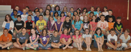 4th Grade A/B Honor Roll All Year. Front row, from left, Devon Mitchell, Allee Williams, Story Mith, Katie Wood, John Thomas Sadler, Mary Partin, Jacqueline Smith, Addison Moore, Marleigh Posey, Austin Miley, Chantelle Napier; second row, Emma McGee, Vance Kendall, Devin Justice, Bryson Lemons, Savannah Jewell, Emily Herrington, Memphis Wilhoite, Macie Clough, Madison Denniston, Anna Midden, Will Lucky, Shawn Dahmer, Davin Campbell; third row, Saudia Pratt, Casey Sledd, Cameron Kinsey, Justin Adams, Zaryn Couch, Ximena Hernandez, Velvet Engle, Katie Phillips, Star Gallagher, Gracie Perraut, Hunter Gaunce, Braden Cheek, Cameron Covington; fourth row, Will Lucky, Sam Bostic, Stephanie Valdez, Blake Browning, Olea Davis, Taylor Chapman, Kaitlin Bowling, Colton Kendall, Savanna Austin, Ally Mattox, Kelsey Brinker, Allison Combs, Morgan Nickerson.