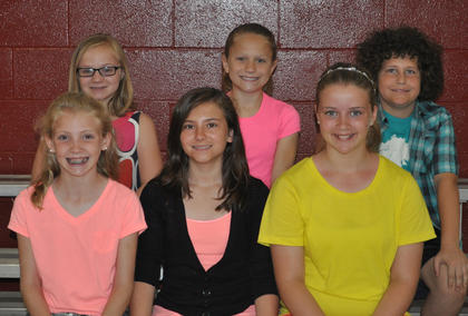 4th Grade Achievement Award: front row, from left, Kendall Box, Tatum Cummings, Hailey Herrington; second row, Liza Jane Gossett, Laurel McDaniel, Patrick Marshall.