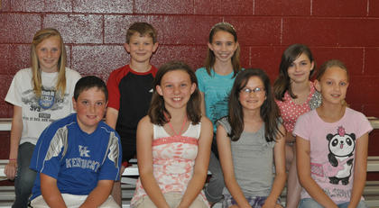 5th Grade Achievement Awards. Front row, from left, Anthonly Vascotto, Gracie Roberts, Emma Gooden, Melony Dunaway; second row, Madison Kellione, Zach Getting; Extra Effort Awards, Christina Wilson, Alivia Austin.