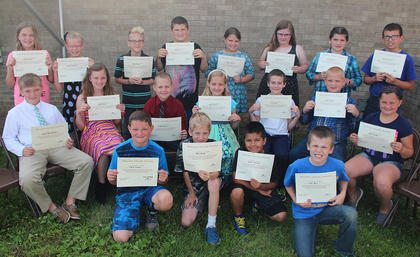 Archery. Students recognized were: front row, from left, Taylor Conway, Bill Hailey, Zander Acahua, Cayden Berry; second row, Isaac Ross Blackburn, Maggie Davis, Camden Bowlin, Sophia Bowlin, Miles Bryan, Aidan Caswell, Riley Conway; third row, Jessica Hailey, Kaitlin Lewis, Blake Mattox, J.P. Owens, Sadie Perkins, Emmalee Preece, Josie Tucker, Thomas Wilson.