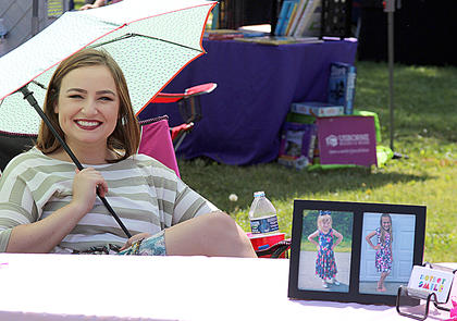 Kelsey King was selling children's clothes for DotDot Smiley.