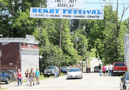 Lots of folks returned to Berry for a reunion of sorts. There was a car show, children's games, a museum and numerous vendors.