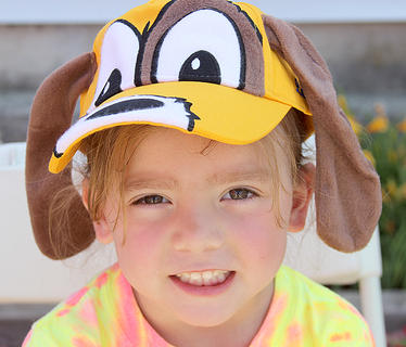 Delilah Massey, 4, sported her Aaron's puppy hat.