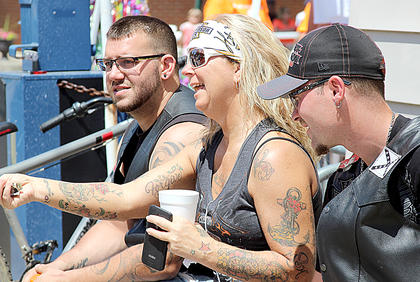 Russell Bryant and Angie Clem watched the festival activities.