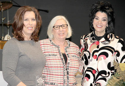 Deanna Murdock, Educator of the Year, to the left, was nominated by Mary Norbom, center. Her best friend, Jenny Lynn Varner Hatter, was invited to help her celebrate