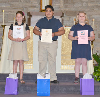 Fifth Grade students receiving awards were: Skylar Hatfield, Ryan Cabrera, Abigail Rion.