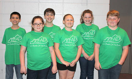 Intermediate Team. Eastside Intermediate Battle of the Books team are: front row, from left, Erin Roseberry, Brooklynn McElfresh, Jonah Wright; back row, Nathaniel Garcia, JR McFarland, Maggie Lawrence.