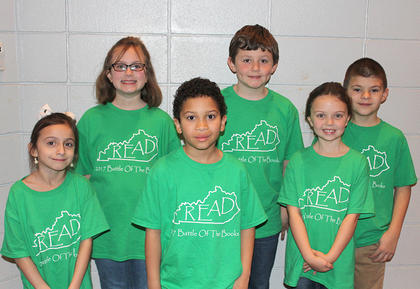 Primary Team. Eastside Primary Battle of the Books team are: front row, from left, Sadie Stephens, JaCory Hinton, Lauren Ecklar; back row, Danielle Franklin, Landon Kinney, Skyler Mullins.