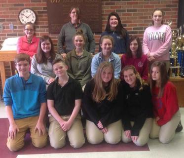 MAROON TEAM. Seventh grade Reading Counts Top 15 Readers for the second nine-weeks were: A.J. Perraut, Tim Reed, Kali Richardson, Laci Davis, Emma Withers, Emily Case, Avery Barnes, Gracie Davis, Destiney Reed, Grace Wilson, Ryleigh Mattox, Harley Coppage, Paige Owens. Absent were  Kaylee Pickett, Serenity Florence.