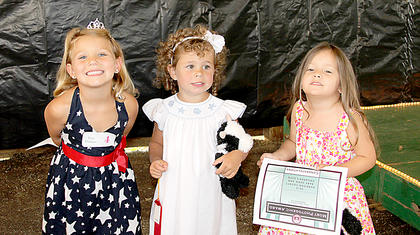 tiny princess Elisa Ecklar, first, Lucy Kate Courtney, second, Molly Coleman, third and Most Photogenic.