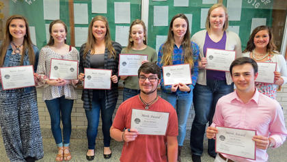 Governors Scholar Nominees. Students chosen as Governors Scholar nominees were: Kevin Barnett, Jake Jones, Natalie Kinney, Olivia Eckert, Emily Hendrix, Rachel Eckert, Reagan Gorman, Emma Darnell, Hannah Craig. These students were accepted into the Governors Scholar Program: Kevin Barnett, Jake Jones, Olivia Eckert, Rachel Eckert.