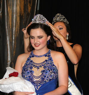 Erin Bradford, daughter of Kent and Mary Beth Bradford, was crowned Miss Harrison County by Kaitlyn Oakley-2015 Miss Harrison County.