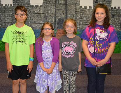 Kids' College was awarded to: from left, James Chipman, Katie Fetterman, Hailey Lizer, Lydia Phillips.