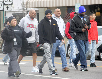 Martin Luther King Jr. March participants.