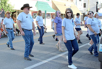 The Harrison County Boot Stompers weathered the heat for nearly an hour of entertainment.