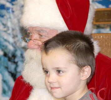 "This little one was on Santa's ""nice list."""