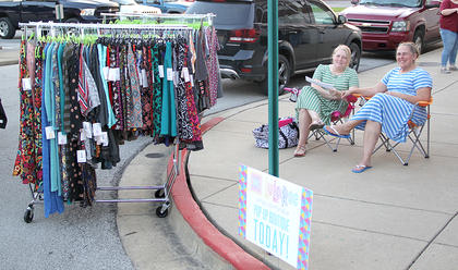 Several vendors were on hand for Friday night's Summer Concert Series.