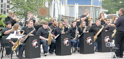 The Harrison County High School Jazz Band, under the direction of John Merz, got the Summer Concert Series started on Friday night. Their performance was a perfect way to get the night started.