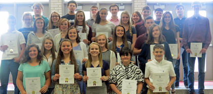 Social Studies. Students honored with Social Studies awards were: Madison Coppage, Hannah Roberts, Madison Shanklin, Jamie Campbell, Nathan Maynard, Whitley Lemons, Annie Furnish, Madison Kellione, James Griffieth, Dustin Abner, Allison Conley, Lauren Bentley, Melicity Fraley, Lauren Ammerman, Morgan Barker, Kaylee Clements, Christen Smith, John Hawkins, Callie Powell, Dylan Etienne, Brian Merriman, Lakenrick Boyers, Will Marsh, Jake Jones, Alexis Lanza, James Fryman, Jason Roush, Mirissa Boggs, Jessica Duncan and Max Sparks.
