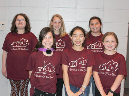 Intermediate Team. Southside Primary Battle of the Books team are: front row, from left, Camille Marshall, Shantin Aguilar (capt), Ashlee Foxworth; back row, Nivea Palmer, Alyssa Hall (alt), Harlie Abner (alt).