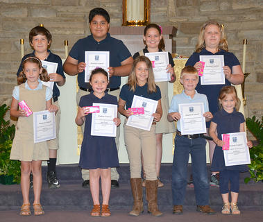 Student Council. Students recognized for Student Council were: front row, from left, Sutton Koch, Anne Aldridge, Madison Jones, Ivy Thornton; second row, Isaac Furnish, Ryan Cabrera, Skylar Hatfield, Abigail Rion.