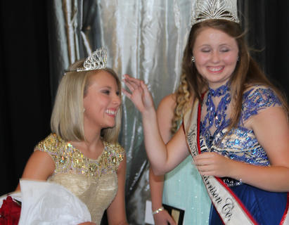 Kennedy Davis, daughter of Jerrod and Monica Davis was crowned Miss Harrison County Teen by Whitley Lemons-2015 Miss Harrison County Teen. Davis was also awarded (chosen by the contestants) the Miss Congeniality Award.