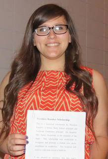 Theodore Renaker Scholarship. Senior Tonya Martinez received the Theodore Renaker scholarship.