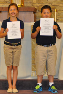 School Honors. Receiving School Honors were, from left, Victoria Gasser and Samuel Finch.