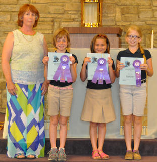 Science Fair Grand Prize Winners. The Science Fair grand prize winners were: from left, Debbie McKinley, Meredith Fryman, Skylar Hatfield, Morgan Cooper.