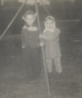 Photo submitted by Loretta Fryman Jackie McCord and Rhonda Fryman, 1954, grandchildren of Yancy and Mary Lyons Fite.