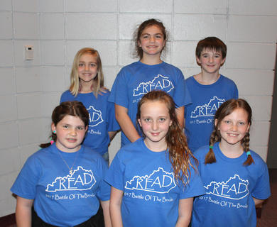 Intermediate Team. Westside Intermediate Battle of the Books team are: front row, from left, Josie Tucker, Jayden Ecklar, Maggie Davis; back row, Sophie Bowlin, Mary Canupp, Wil Shirley.