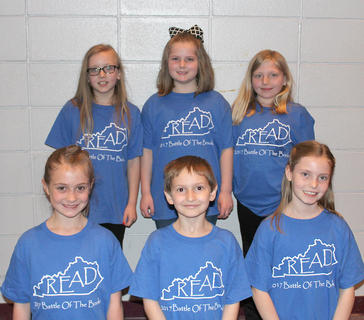 Primary Team. Westside Primary Battle of the Books team are: front row, from left, Brinkley Wiggins, Marcus Centers, Arwen French; back row, Hadley Hein, Sallie Kate Dale, Camryn Perraut.