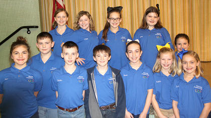 westside elementary governor's cup team. Back Row, from the left, Maggie Davis, Chloe Fitzpatrick, CeCe Boland and Josie Tucker; Middle Row: Jonathan Graves and Charlotte Petty. Front row, left to right, Mary Canupp, Braden Fields, Wil Shirley, Hannah Mitts, Kaitlin Lewis and Sophie Bowlin.