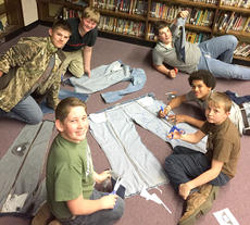 """<div class=""""source""""></div><div class=""""image-desc"""">HCMS SOLE HOPE. The Harrison County Middle School Student Leadership Team and KUNA hosted a Sole Hope Jean Drive during March. The jeans are used for soles of shoes for the Sole Hope Organization. Sole Hope is an organization that provides soles for shoes for individuals in Uganda. Sole Hope's mission statement is offering HOPE, healthier lives, and freedom from foot-related diseases through education, jobs, and medical relief. The students at Harrison County Middle School were able to collect over 430 pairs of jeans. On April 19, they hosted a Sole Hope Shoe Cutting Party where templates, scissors, sharpies were used to cut the soles of shoes for people in Uganda. Students were also able to donate over 100 barely used or brand new pair of jeans to Cynthiania Clothing Closet.</div><div class=""""buy-pic""""></div>"""