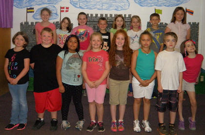 3rd Grade A/B Honor Roll. Third grade Northside Elementary students recognized on the A/B Honor Roll were: top row, from left, Brooke Dunaway, Riley Moses, Blaykelyn Northcutt, Tanner Eckler, Sera Laney, Cindy Barker, Jacob Craycraft, Athena Collins; botton row, Olivia Tucker, Jared Noble, Tomas Gutierrez, Kaydee Simpson, Kenley Tumey, Cheyenne Marshall, Joshua Myers, Madison Case.