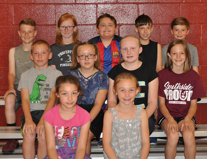 4th Grade Honor Roll (* denotes All A's). Front row, from left, Dalila Maresco, Madison Hunt; middle row, Bryson Pergram, *Hadley Hein, *LoVada Faulkner, Elizabeth Ratliff; back row, *Jack Midden, *Jack Whalen, Buck McDonald, Silas Harris, *Cooper Slade.