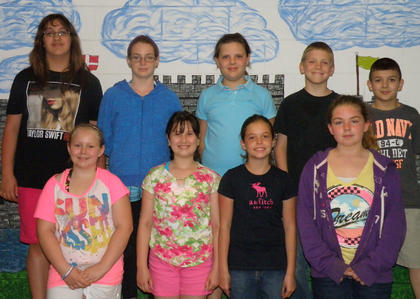 5th Grade Honor Roll. Fifth grade Northside Elementary students recognized on the Honor Roll were: top row, from left, Kelsea Northcutt, Miracle Switzer, Sarah Northcutt, Chris Griffith, Blake Robinson; bottom row, Bailey Holbert, Lauren Crow-Duggins, Miranda Barnes, Isabella Sturgill.