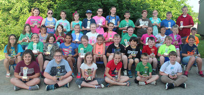 Reading Counts 200 Plus Points Club. Front row, from left, Shelby Oaks, John Michael Furnish, Arwen French (619 pts.), Briley Thompson, Colton Bryan, Logan Peck; second row, Kyra Spence, Haleigh Hall, Brooklynn Hampton, Izzy Reyna, Alyssa Rice, Brooklynn Sowder, Karsyn Stanfield, Jilesh Davis, Nate Mitts, Kyle Roark, Desiree Couve; third row, Destiny Bell, MaKayla Zumwalt, Caylee Browning, Cheyann Smith, Emma Yazell, Aeowynne Wiley, Audrie Whitaker, Brinkley Wiggins, Allie Smith, Rylie Jackson, Aidon Sisson; back row, Josie Tucker, Madison Delong, Jessica Jones, Sallie Kate Dale, Clayton Laytart, Cece Boland, Maggie Davis, Owen Winkle, Makenzie Malone, Jaiyda Smith, Isaac Ross Blackburn, Collin Winters.