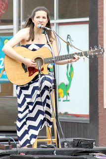 Katelin Mason performed in front of the Rohs  Opera House.