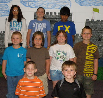 Perfect Attendance. Students honored with perfect attendance were: top row, from left, Jaydy Torres; Bailey Northcutt, Alan Roque; middle row, Wyatt Gaunce, Dixie Bales, Laci Davis, Cameron Perry; bottom row, Ayden Green, Daniel Simpson.