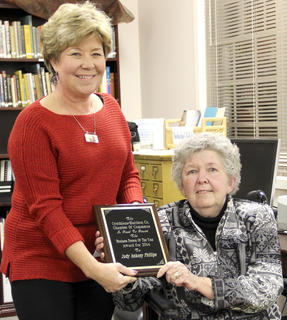 Judy Ankeny Phillips, left, was named Businessperson of the Year. She was nominated by Donna Stroub.