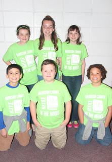 Eastside Intermediate students competing in the Battle of the Books were: front row, from left, Nathaniel Garcia, Clay Russell Vaughn, Elijah Harris; back row, Brooke Kinney, Hannah Judy, Grace Wilson.