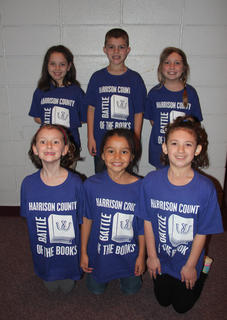Northside Primary students competing in the Battle of the Books were: front row, from left, Elle Wasson, Savannah Silcox, Kendall Lee; Riley Grob, Tanner Tumey, Lindsey Bennett.