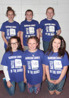 Northside Intermediate students competing in the Battle of the Books were: front row, from left, Lily Moses, Jae Katherine Gose, Lydia Phillips; back row, Daelyn Morrison, Laci Davis, Ella Cash.