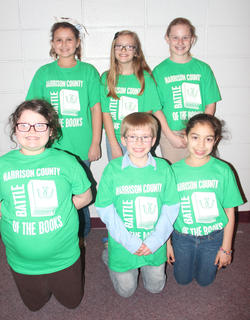 Southside Intermediate students competing in the Battle of the Books were: front row, from left, Nivea Palmer, Tanner Stroub, Shantin Aguilar; back row, Jaime Lynn Timmons, Kyla Soard, Aurora Ridenour.