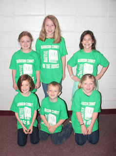 Southside Primary students competing in the Battle of the Books were: front row, from left, Sarah Combs, Keven Jones, Camryn Peraut; back row, Ashlee Foxworth, Alyssa Hall, Camille Marshall.